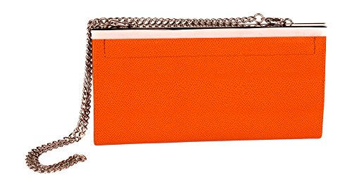Cadena cartera de cuero embrague Fashion por farfalla naranja