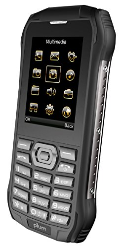 Plum Ram 6 - Rugged Unlocked Cell Phone GSM Shock Water Proof IP 68 Certified Military Grade Camera Flash Light FM Radio Bluetooth SD Card Slot Dual Sim - Black