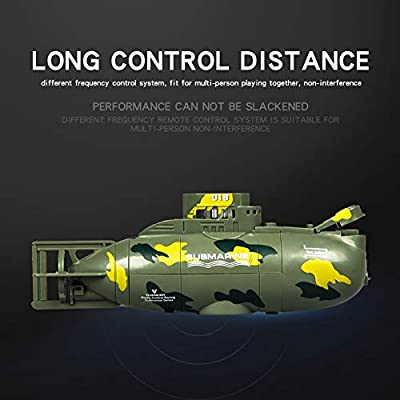Anniston Kids Toys, 6CH Infrared Mini RC Submarine Rechargeable Diving Ship Education Toy Kids Gift Remote Control Toys Perfect Fun Time Play Activity Gift for Boys Girls, Black: Toys & Games