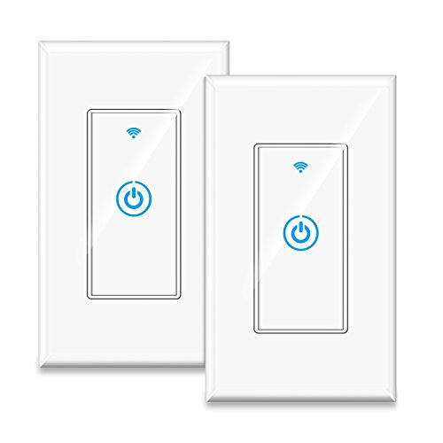 Gosund Smart Wifi Light Wall Switch Touch Timing Function Remote Control From Anywhere, Compatible with Alexa, Google Assistant And IFTTT, No Hub Required (2 pack)