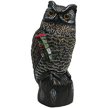 Garden Defense Owl Decoy (Natural Bird Deterrent)