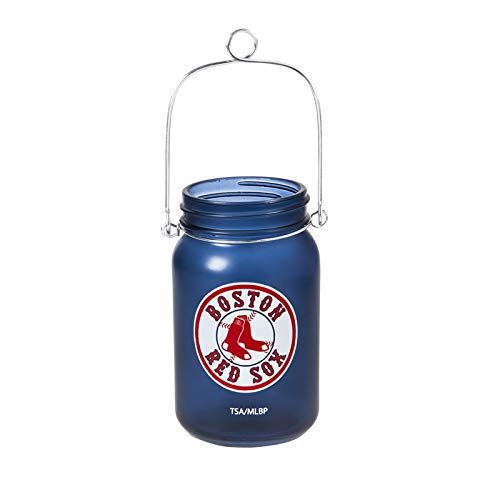 Team Sports America Boston RED SOX LED Lighted Mason JAR Lantern ()