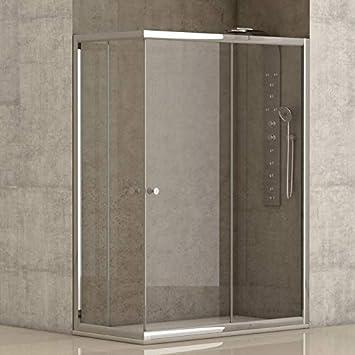 Mampara de ducha angular 2 hojas fijas + 2 hojas correderas con cristal transparente templado de seguridad de 4mm modelo Bricodomo Catalonia 70x90 (Adaptable 69-70cm a 89-90cm): Amazon.es: Bricolaje y herramientas