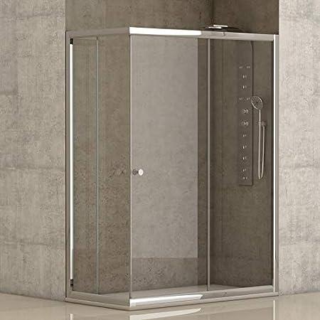 Mampara de ducha angular 2 hojas fijas + 2 hojas correderas con cristal transparente templado de seguridad de 4mm modelo Bricodomo Catalonia 70x100 (Adaptable 69-70cm a 99-100cm): Amazon.es: Bricolaje y herramientas