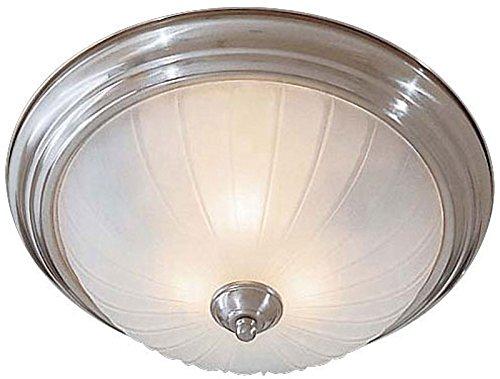 Minka Lavery Flush Mount Ceiling Light 830-84-PL Glass Fixture, 3 Light, 39 Watts Fluorescent, Nickel