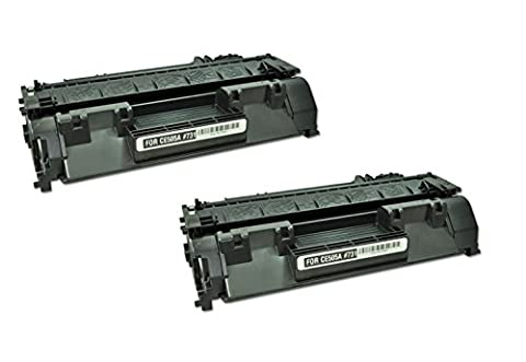 TopTech Toners Compatible Toner Cartridge Replacement for HP CE505A Black (HP 05A) - (2 Pack) (Hp 05a Cartridge)