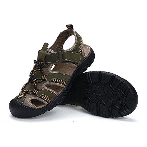 Ocasionales Grandes los 38 Do del Respirables Verano la Zapatos de Do Hombres 48 de 48 de Color Cuero Aire de Sandalias Playa Sandalias los tamaño Baotou Libre de Sandalias al Hombres aq16w1