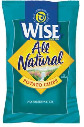 Wise Potato Chips Snack Size .75 Oz Delicious Taste of Home Natural Classic Lunch Size Bag