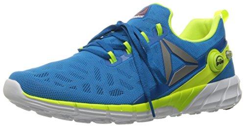 Reebok Men's Zpump Fusion Running Shoe, Instinct Blue/Coral Navy/Silver, 10.5 M US (Reebok Men Pump)
