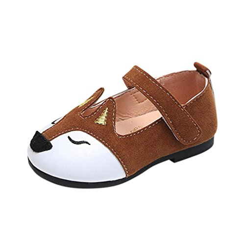 - Dressffe Baby Girls Dress Shoes,Toddler children Fox Ballerina Pricness Casual Flat Princess Shoes (27, Coffee)