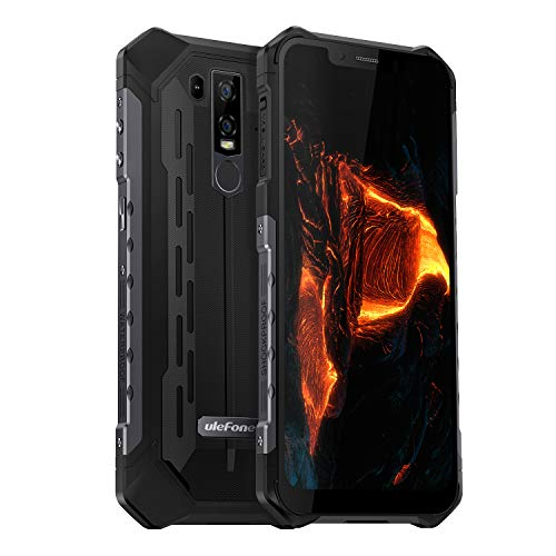 "Ulefone Armor 6 IP68 Waterproof Unlocked Cell Phone, Android 8.1 Outdoor Smartphone 6.2"" 19:9 FHD+, Helio P60 6GB + 128GB, Dual 4G LTE Global Bands, GPS+GLONASS, 5000mAh Battery, Shockproof, US Plug"