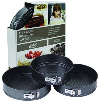 Euro-Home EW546 Gorgeous 3 Piece Round Spring Form Pan Set, Multicolor by Euro-Home
