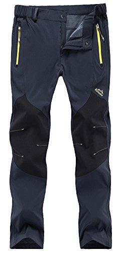 Singbring Mens Outdoor Lightweight Waterproof Hiking Mountain Pants608 Medium Gray