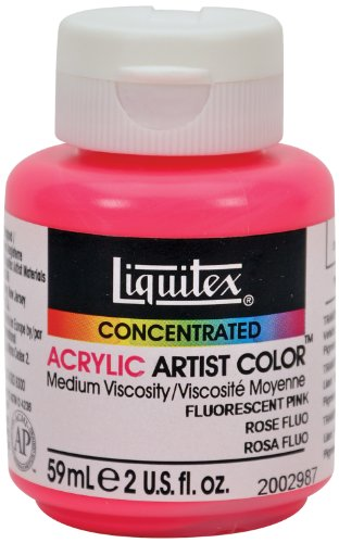 Liquitex Professional Soft Body Acrylic Paint 2-oz jar, Fluorescent Pink