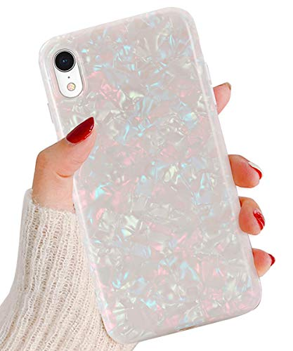 iPhone XR Cases, J.west iPhone xr case Luxury Sparkle Bling Crystal Clear Soft Bumper TPU Silicone Anti-Scratch Protective Phone Case for Girls Women for iPhone XR 6.1 inch (Colorful)