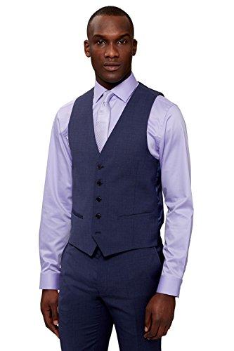DKNY Men's Slim Fit Blue Marl Suit Vest Waistcoat 36R - London Dkny Shop