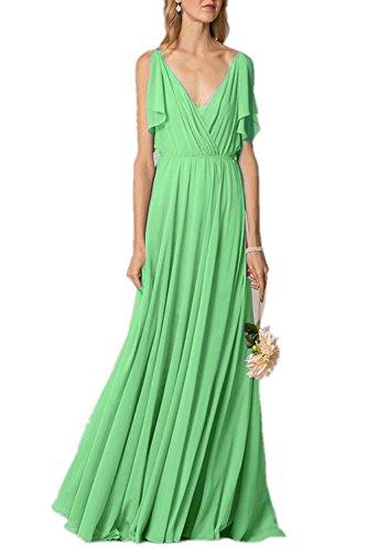 Kleid A Linie Lindgrün Damen Fanciest qaRxSWPt