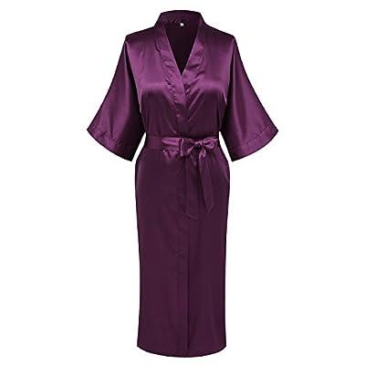 Goodmansam Women's Simplicity Style Nightwear Elegant Kimono Robes, Long