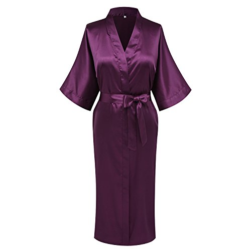 goodmansam Womens Simplicity Style Nightwear Elegant Kimono Robes, Long