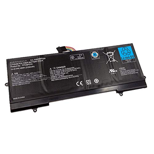 EleskyLaptop 14.4V 45Wh 3150mAh FMVNBP220 FPCBP372 Laptop Battery Compatible with Fujitsu Lifebook U772 Series Notebook