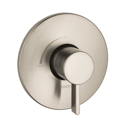 Hansgrohe 04233820 S Pressure Balance Trim, Brushed Nickel - Hansgrohe Trim Volume Control