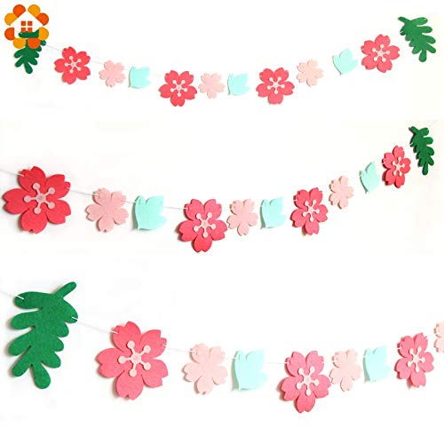 House DIY Wedding Banner 1Set Non-Woven Pink Cherry Blossom Flower Banner Home Garden/Kids Room/Wedding Party Decoration Photo Props Venue Supplies from HATABO