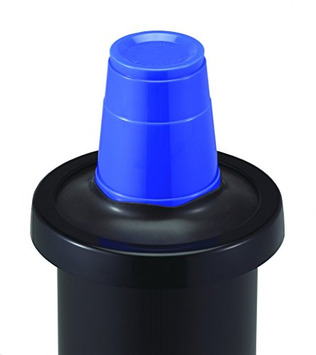 San Jamar C2410C One Size Fits All EZ Fit In-Counter Cup Dispenser with Black Gasket, Fits 8oz to 46oz Cup Size, 2-7/8