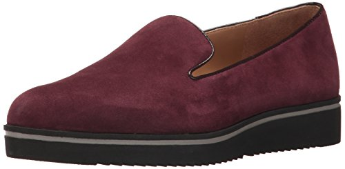 Franco Sarto Women's Fabrina Loafer Flat Dark Burgundy