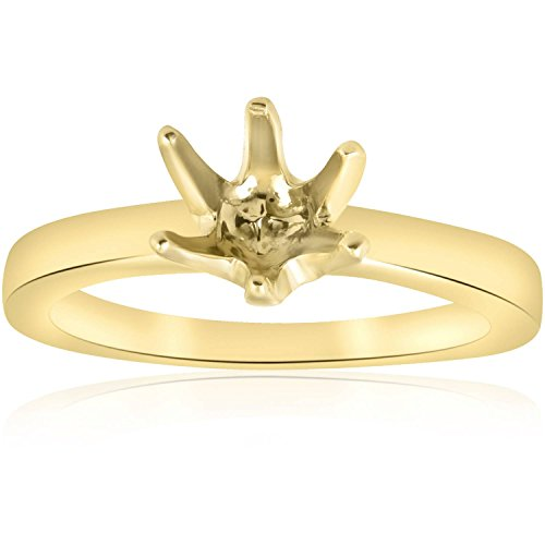 Yellow Gold 14K Solitaire Semi Mount Engagement Ring 14k Yellow Gold Mount
