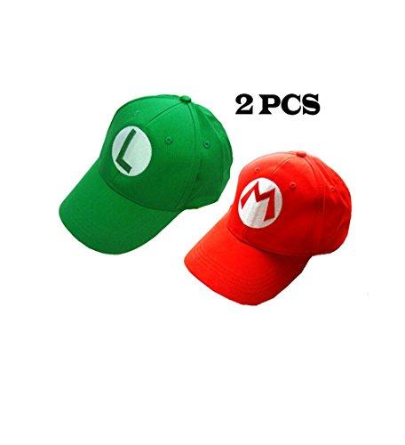 2PCS  (Wario Adult Costumes)