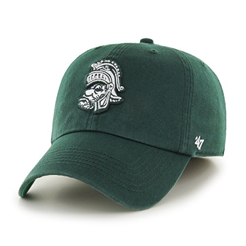 '47 NCAA Michigan State Spartans Franchise Fitted Hat, Dark Green 2, X-Large