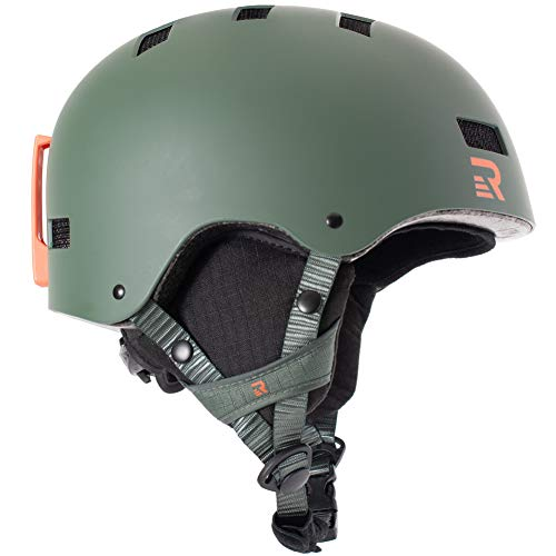 Retrospec Traverse H1 2-in-1 Convertible Helmet with 10 Vents, Matte Forest Green, Large (59-63cm)