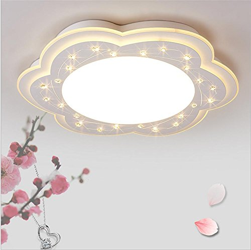 OOFAY Modern Master Bedroom Crystal Lamp LED Flush Mount Ceiling Light , warm white , 52cm by LL Lighting