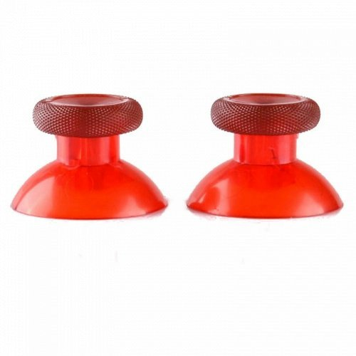 Vivi Audio® 2 Analog Thumbstick Thumb sticks for Xbox One 1 Controller Color Transparent Red