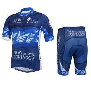 2014 Outdoor Sports Pro Team Men's Short Sleeve Cycling Jersey and Bib Shorts Set (Suit, L)