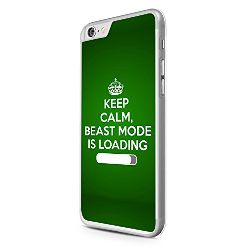 Keep Calm, Beast Mode Is Loading Grün iPhone 6 Hülle Cover Case Schale Motivation Fitness Spruch Zitat Design Quote