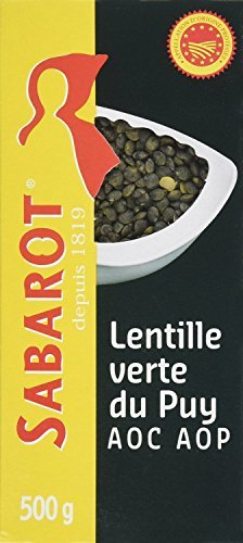(Sabarot French Green Lentils from Le Puy - 500g - 16.6 oz (CASE of 10) by Sabarot)
