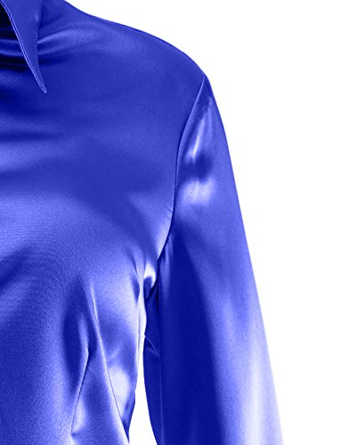 Elegant  Blouse Aro Lora Womens Long Sleeve Slim Fit BOWTIE Silk Shirt