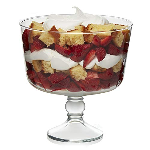Libbey Selene Footed Glass Trifle Bowl, 9-inch