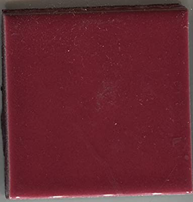 About 2x2 Ceramic Tile Burgandy-597 Brite Summitville Wall Vintage Sample, Kitchen, Bathroom, Wall Tile, Floor Tile, Ceramic Tile, Replacement