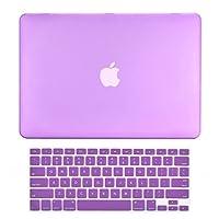 """CUBIERTA SUPERIOR - 2 en 1 - Estuche rígido recubierto de goma, ultra delgado y liviano Compatible con la MacBook Pro de Apple Old Generation de 13 pulgadas, 13 """"(A1278 /con o sin Thunderbolt) - Púrpura"""