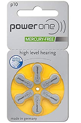 Aid One Hearing - Power One Hearing Aid Battery Size 10 - Pack Of 60 Batteries