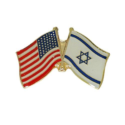 (Israel USA Friendship Flag Enamel Badge Lapel Pin Israel United States Gift)
