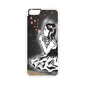 "James-Bagg Phone case Bansky Girl Protective Case For Apple Iphone 6,4.7"" screen Cases Style-12"