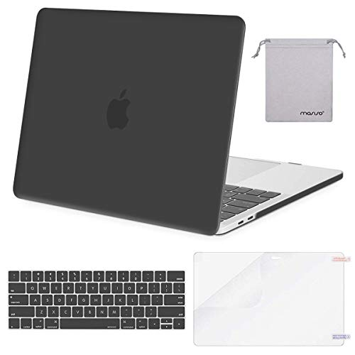 MOSISO MacBook Pro 13 Case 2019 2018 2017 2016 Release A1989 A1706 A1708, Plastic Hard Shell & Keyboard Cover & Screen Protector & Storage Bag Compatible Newest MacBook Pro 13 Inch, Space Gray (Best Macbook Pro Screen Protector)