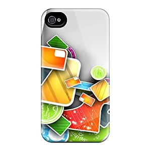 Hard Plastic Iphone 4/4s Case Back Cover,hot 3d Abstract Colorful Art Work Case At Perfect Diy