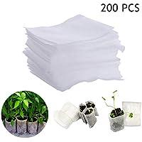 Langman 200-Pieces Biodegradable Non-Woven Nursery Plant Grow Bags