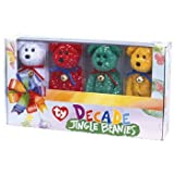 TY Jingle Beanie Babies – Set of 4 DECADE Bears (Complete Boxed Set)
