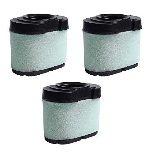 VACFIT for Briggs & Stratton 792105 Air Filter Replacement Extended Life Series Air Cleaner Filter for John Deere MIU11517 GY21057 Air & Foam Pre Filter Lawn Mower Part 3 Pack Kit