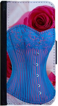 Pinks Purse Corsage (Sexy Blue Corset Samsung Galaxy S3 Flip Case, Samsung Galaxy S3 Flip Cover, Flap Case, Pocket Cover, Book Style Case, Wallet Case, Bi-Fold Cover, by Sublifascination 114)